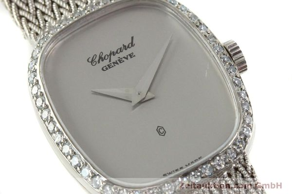 Used luxury watch Chopard * 18 ct white gold quartz Kal. 602  | 151287 02