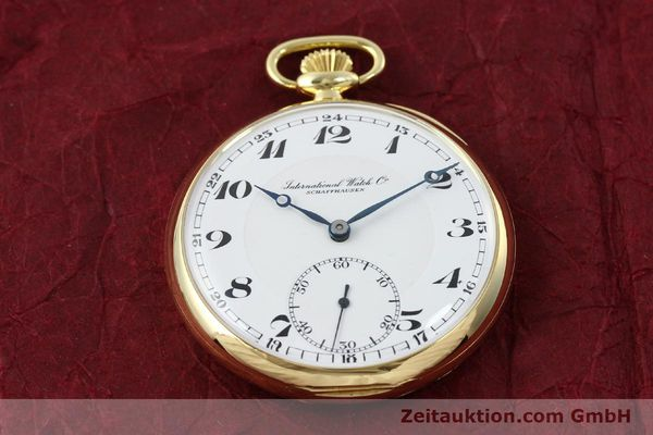 Used luxury watch IWC Taschenuhr 18 ct gold manual winding  | 151288 13