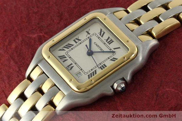 montre de luxe d occasion Cartier Panthere acier / or  quartz Kal. 87  | 151292 01
