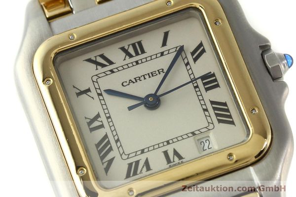montre de luxe d occasion Cartier Panthere acier / or  quartz Kal. 87  | 151292 02