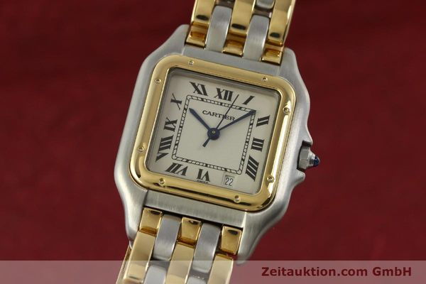 montre de luxe d occasion Cartier Panthere acier / or  quartz Kal. 87  | 151292 04