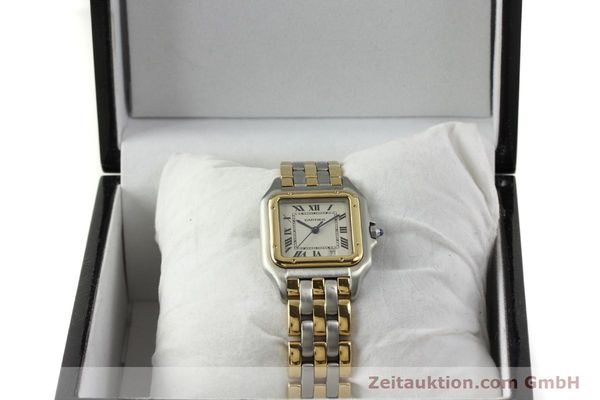 montre de luxe d occasion Cartier Panthere acier / or  quartz Kal. 87  | 151292 07