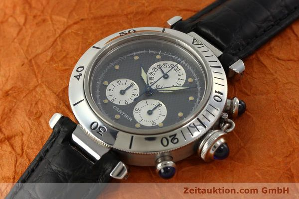 Used luxury watch Cartier Pasha chronograph steel quartz Kal. 212 P  | 151294 01