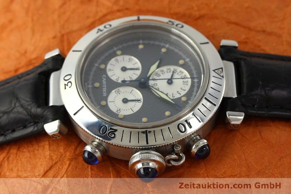 Used luxury watch Cartier Pasha chronograph steel quartz Kal. 212 P  | 151294 05