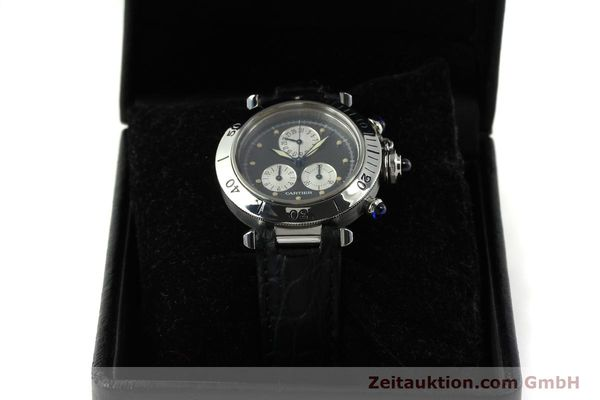 Used luxury watch Cartier Pasha chronograph steel quartz Kal. 212 P  | 151294 07