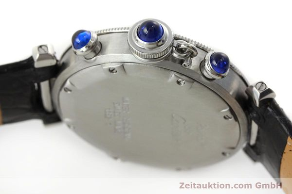 Used luxury watch Cartier Pasha chronograph steel quartz Kal. 212 P  | 151294 08
