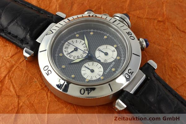 Used luxury watch Cartier Pasha chronograph steel quartz Kal. 212 P  | 151294 12