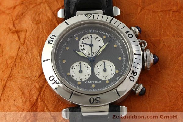 Used luxury watch Cartier Pasha chronograph steel quartz Kal. 212 P  | 151294 13