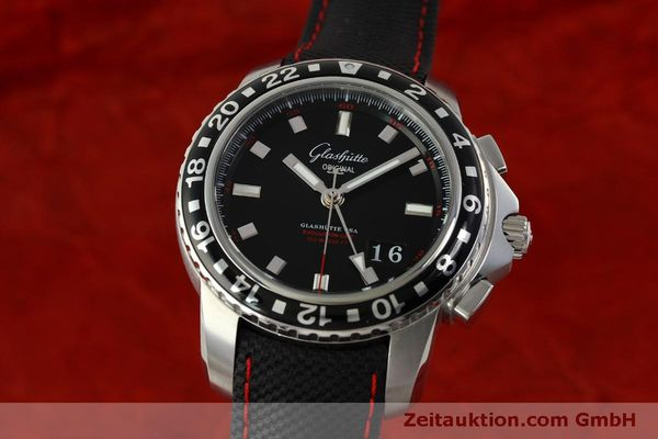 Used luxury watch Glashütte Sport Evolution  steel automatic Kal. 39 Ref. 39-55-43-03-14  | 151295 04