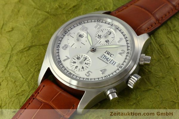 Used luxury watch IWC Fliegerchronograph chronograph steel automatic Kal. 79320 Ref. 3706  | 151296 01