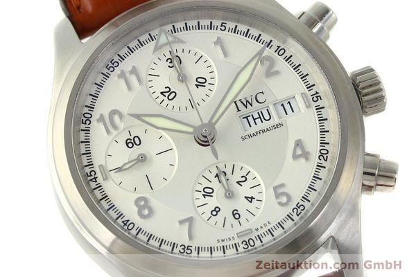 Used luxury watch IWC Fliegerchronograph chronograph steel automatic Kal. 79320 Ref. 3706  | 151296 02