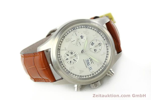 Used luxury watch IWC Fliegerchronograph chronograph steel automatic Kal. 79320 Ref. 3706  | 151296 03