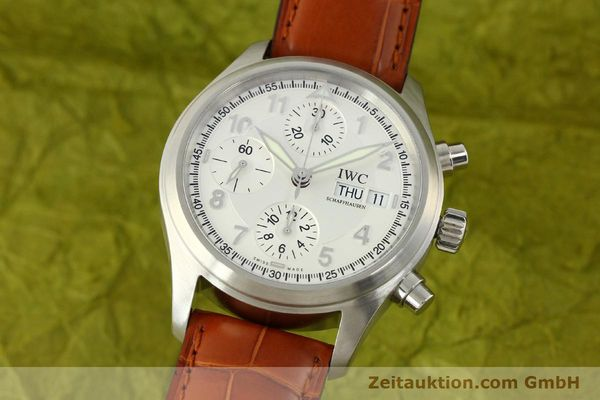 Used luxury watch IWC Fliegerchronograph chronograph steel automatic Kal. 79320 Ref. 3706  | 151296 04