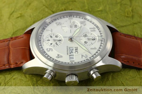 Used luxury watch IWC Fliegerchronograph chronograph steel automatic Kal. 79320 Ref. 3706  | 151296 05