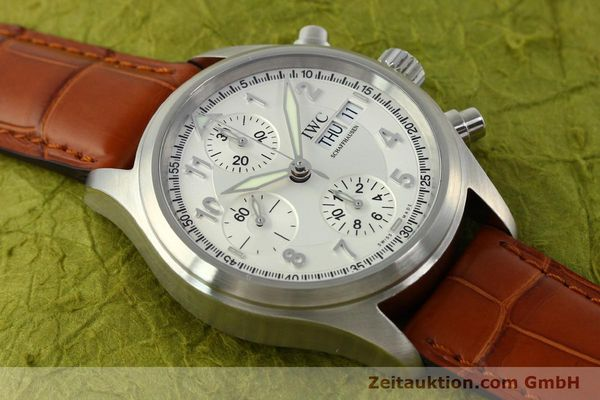 Used luxury watch IWC Fliegerchronograph chronograph steel automatic Kal. 79320 Ref. 3706  | 151296 14