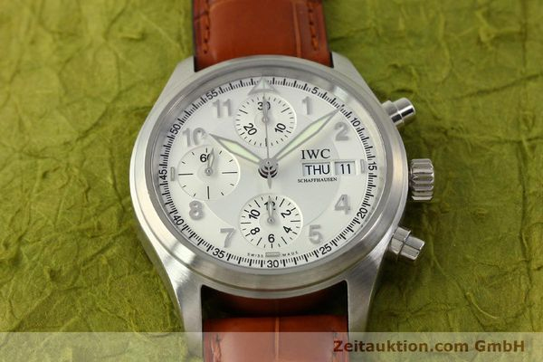 Used luxury watch IWC Fliegerchronograph chronograph steel automatic Kal. 79320 Ref. 3706  | 151296 15