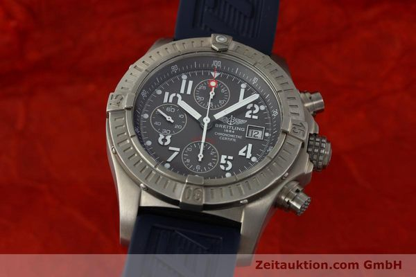 Used luxury watch Breitling Avenger chronograph titanium automatic Kal. B13 ETA 7750 Ref. E13360  | 151304 04