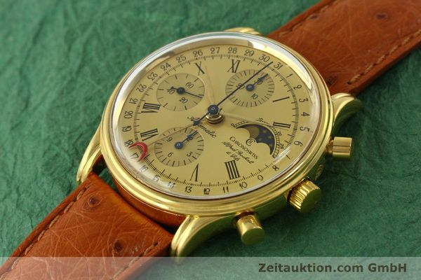 Used luxury watch Chronoswiss A. Rochat chronograph gold-plated automatic Kal. Valj. 7750 Ref. 77990  | 151313 01