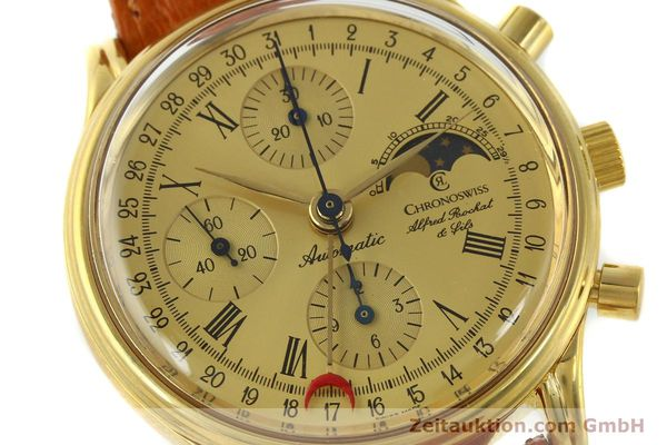 Used luxury watch Chronoswiss A. Rochat chronograph gold-plated automatic Kal. Valj. 7750 Ref. 77990  | 151313 02