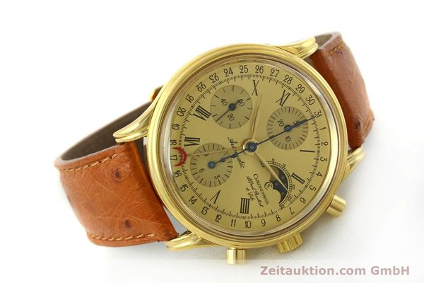Used luxury watch Chronoswiss A. Rochat chronograph gold-plated automatic Kal. Valj. 7750 Ref. 77990  | 151313 03