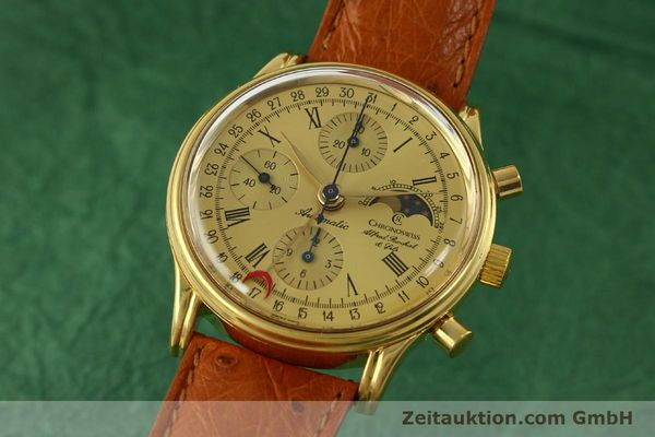 Used luxury watch Chronoswiss A. Rochat chronograph gold-plated automatic Kal. Valj. 7750 Ref. 77990  | 151313 04