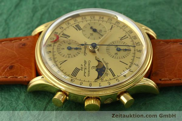 Used luxury watch Chronoswiss A. Rochat chronograph gold-plated automatic Kal. Valj. 7750 Ref. 77990  | 151313 05