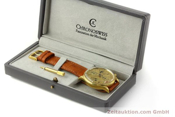 Used luxury watch Chronoswiss A. Rochat chronograph gold-plated automatic Kal. Valj. 7750 Ref. 77990  | 151313 07