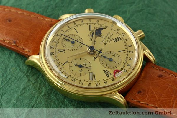 Used luxury watch Chronoswiss A. Rochat chronograph gold-plated automatic Kal. Valj. 7750 Ref. 77990  | 151313 12