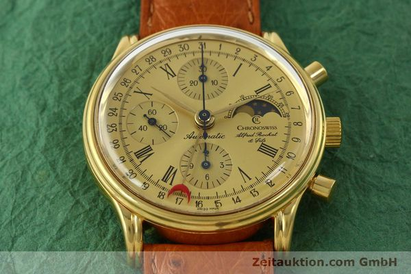 Used luxury watch Chronoswiss A. Rochat chronograph gold-plated automatic Kal. Valj. 7750 Ref. 77990  | 151313 13