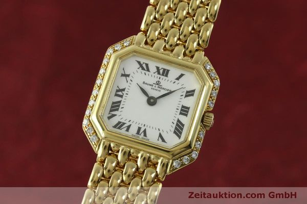 Used luxury watch Baume & Mercier * 18 ct gold quartz Kal. BM5095 ETA 976.001 Ref. 18259  | 151314 04