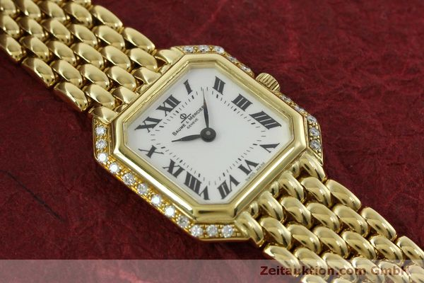 Used luxury watch Baume & Mercier * 18 ct gold quartz Kal. BM5095 ETA 976.001 Ref. 18259  | 151314 14