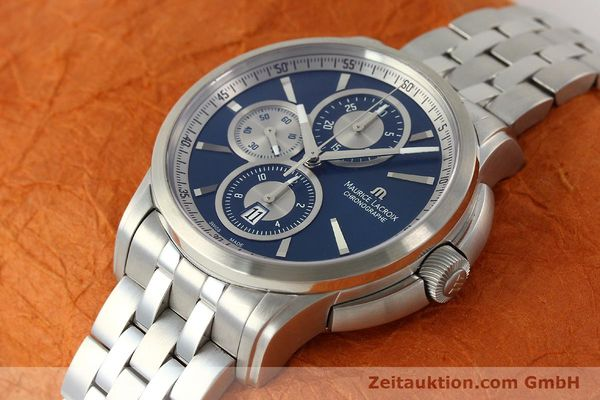 Used luxury watch Maurice Lacroix Pontos chronograph steel automatic Kal. ETA 7750 Ref. PT6178/88  | 151317 01