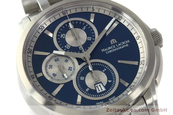 Used luxury watch Maurice Lacroix Pontos chronograph steel automatic Kal. ETA 7750 Ref. PT6178/88  | 151317 02