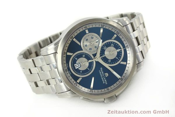 Used luxury watch Maurice Lacroix Pontos chronograph steel automatic Kal. ETA 7750 Ref. PT6178/88  | 151317 03