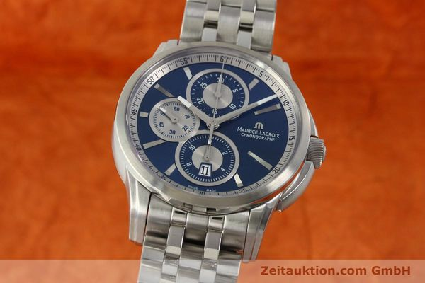 Used luxury watch Maurice Lacroix Pontos chronograph steel automatic Kal. ETA 7750 Ref. PT6178/88  | 151317 04