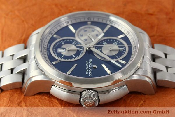 Used luxury watch Maurice Lacroix Pontos chronograph steel automatic Kal. ETA 7750 Ref. PT6178/88  | 151317 05
