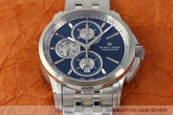 Used luxury watch Maurice Lacroix Pontos chronograph steel automatic Kal. ETA 7750 Ref. PT6178/88  | 151317 15