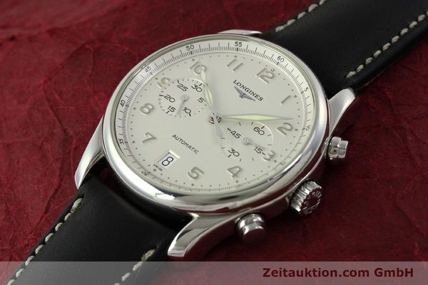 Used luxury watch Longines Avigation chronograph steel automatic Kal. L651.3 ETA 2894-2 Ref. L2.620.4  | 151323 01
