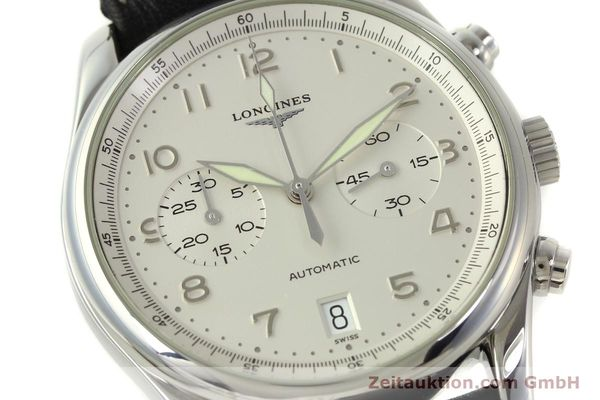 Used luxury watch Longines Avigation chronograph steel automatic Kal. L651.3 ETA 2894-2 Ref. L2.620.4  | 151323 02