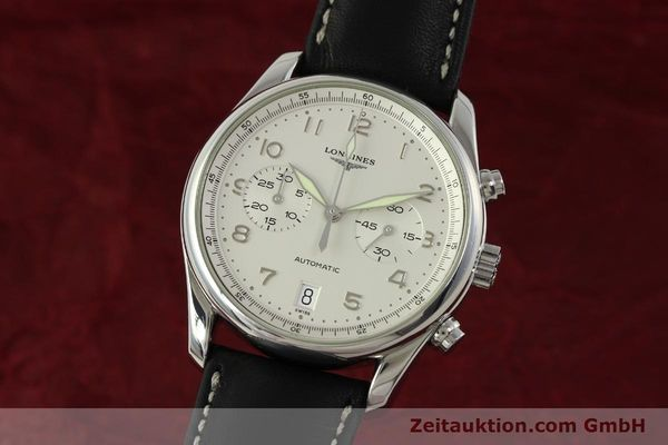 Used luxury watch Longines Avigation chronograph steel automatic Kal. L651.3 ETA 2894-2 Ref. L2.620.4  | 151323 04