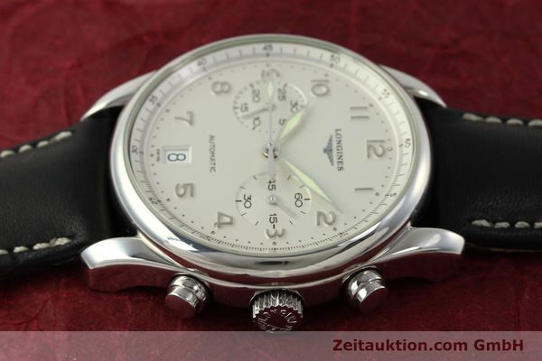 Used luxury watch Longines Avigation chronograph steel automatic Kal. L651.3 ETA 2894-2 Ref. L2.620.4  | 151323 05