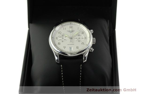 Used luxury watch Longines Avigation chronograph steel automatic Kal. L651.3 ETA 2894-2 Ref. L2.620.4  | 151323 07