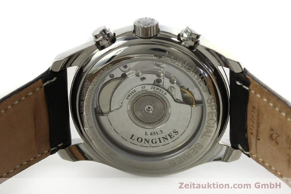 Used luxury watch Longines Avigation chronograph steel automatic Kal. L651.3 ETA 2894-2 Ref. L2.620.4  | 151323 09