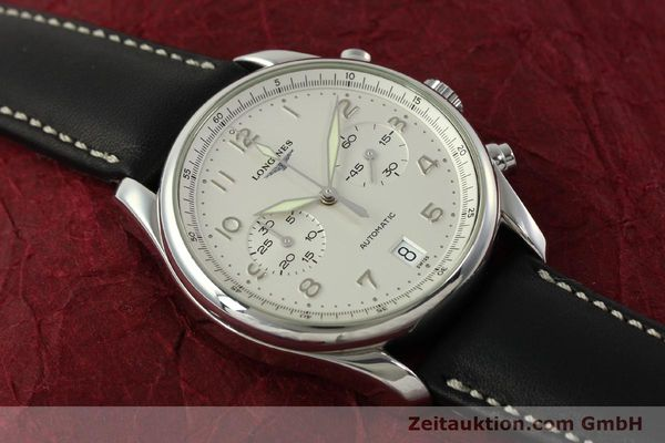 Used luxury watch Longines Avigation chronograph steel automatic Kal. L651.3 ETA 2894-2 Ref. L2.620.4  | 151323 13