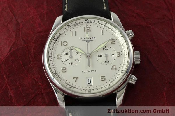 Used luxury watch Longines Avigation chronograph steel automatic Kal. L651.3 ETA 2894-2 Ref. L2.620.4  | 151323 14
