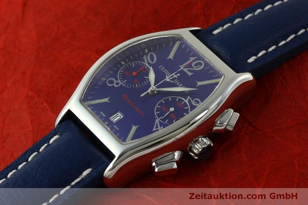 Used luxury watch Ulysse Nardin Michelangelo chronograph steel automatic Kal. ETA 2894-2 Ref. 563-42 LIMITED EDITION | 151325 01
