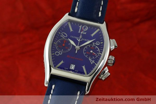 Used luxury watch Ulysse Nardin Michelangelo chronograph steel automatic Kal. ETA 2894-2 Ref. 563-42 LIMITED EDITION | 151325 04