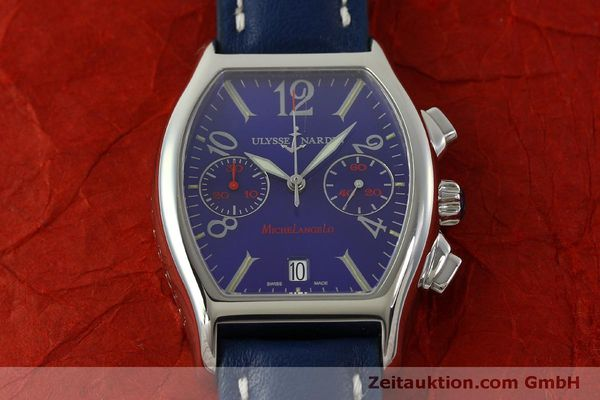 Used luxury watch Ulysse Nardin Michelangelo chronograph steel automatic Kal. ETA 2894-2 Ref. 563-42 LIMITED EDITION | 151325 14