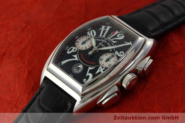 Used luxury watch Franck Muller Conquistador chronograph steel automatic Kal. 1185 Co2  | 151328 01