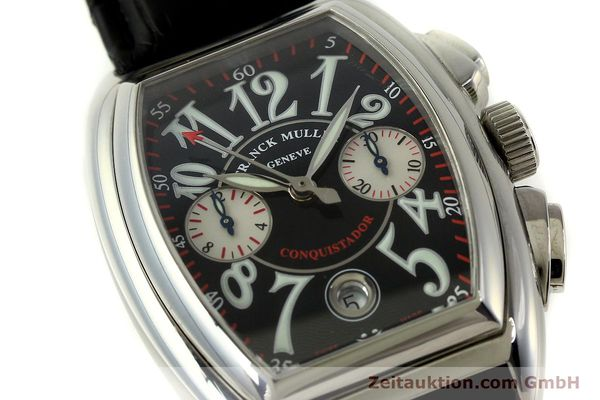 Used luxury watch Franck Muller Conquistador chronograph steel automatic Kal. 1185 Co2  | 151328 02